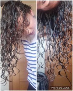 capelli ricci bagnati